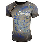 Rusty Neal Herren Rundhals T-Shirt Kurzarm Hemd Slim Fit Design Fashion 15045