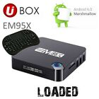 2017 SHOWBOX 16 SPMC Android 6 marshmallow EM95X Quad Core Stream I8 Keyboard