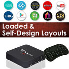 SHOWBOX  SPMC Streaming Videos MXQPRO S905 4K Android Box I8  keyboard