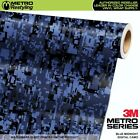 DIGITAL BLUE MIDNIGHT Camouflage Vinyl Car Wrap Camo Film Sheet Roll Adhesive