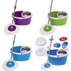 New 2 Heads 360°Magic Mop Stainless Steel Dehydrate Basket W/Bucket 3 Colour