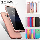 Hybrid 360° Hard Case+Tempered Glass Full Cover For Samsung Galaxy S8 A5 A3 2017