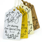 Personalised Thank You for Sharing Our Special Day (II) Wedding Favour Gift Tags