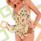 Size M Milili 2pc SILKY BUTTERFLY FIELDS Underwire BABYDOLL & THONG SET