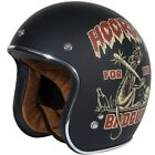 Torc T50 Dirty Rat Open Face Motorcycle Helmet Flat Black