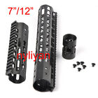 "Metal 7""/12""Ultralight KeyMod Free Float Handguard Forend Barrel Rail Mount&Nuts"