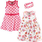 HUDSON BABY GIRLS 3 PIECE SLEEVELESS DRESS AND HEADBAND SET 12-24 MONTHS FLORAL