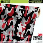 LARGE RED TIGER Camouflage Vinyl Car Wrap Camo Film Sheet Roll Adhesive