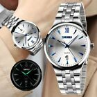 Fashion Men's Stainless Steel Military Waterproof Date Analog Quartz Wrist Watch