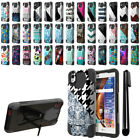"""For LG Tribute HD LS676 X Style 5"""" Hybrid Dual Layer Kickstand Case Cover + Pen"""