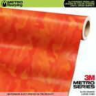 LARGE ELITE ORANGE Camouflage Vinyl Car Wrap Camo Film Sheet Roll Adhesive
