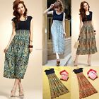Women's Sexy Summer Casual Holiday Floral Long Maxi Sundress Beach B20E