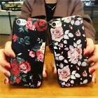 3D Rose Pattern Rubber Case Silicone Gel TPU Cover For Apple iPhone 6 6s 7 Plus