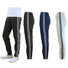 Galaxy by Harvic Men's Heavy Fleece Slim Fit Athletic Striped Jogger Pants