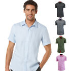 Galaxy by Harvic Men's Cotton Short Sleeve Solid Casual Button-Down Shirt