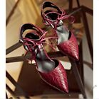 Womens New Ankle Strap Pointed Toe High Heels Party Dress Shoes Stilettos Pumps