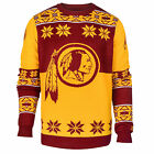 NFL UGLY SWEATER Pullover Christmas Style WASHINGTON REDSKINS Big Logo Football