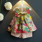 2pcs Kids Baby Girls Summer Outfit Princess Dress T-shirt Tops+Pants Clothes Set