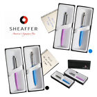Sheaffer Ball Point Pens Black Blue Ink Luxury Gift Box Mens Womens Medium Point