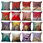 Flower Cotton Linen Pillow Case Waist Back Throw Cushion Cover Home Sofa Decor
