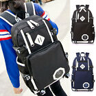 Vintage Fabric Men Boy Casual Travel Backpack Hiking Rucksack School Laptop Bag