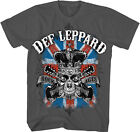Def Leppard - Mens Rock Of Ages T-Shirt In Charcoal