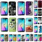 For Samsung Galaxy S6 Edge Rubberized Hard Snap-on Pattern Design Cover Case
