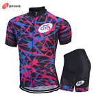 Style Bicycle Short Sleeve Jersey Shorts Kits Men's Cycling Jersey Set Bike