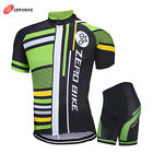 Pro Sports Cycling Jersey & Shorts Set Mens Bike Bicycle Short Sleeves Wear Suit