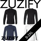 ZUZIFY Mens Long-Sleeve Colorblock Performance T-Shirt. YW0394