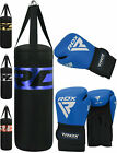 RDX Leather Boxing Gloves Sparring Punching Bag Gloves Training 16 oz Fight MMA