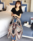 New Summer V-neck Chiffon Short-Sleeved Long Dress Fashion Maternity Dress