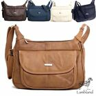 GENUINE LEATHER SHOULDER BAG BY LORENZ (REF3747) CREAM, BLACK, BROWN, FAWN
