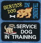 1 SERVICE DOG IN TRAINING PUPPY PATCH 2X4 Dannty & LuAnns Embroidery assistance