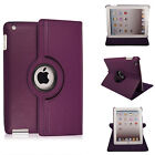 For Apple iPad 9.7 2018 (6th Generation) 360° Rotating Leather Smart Case Cover <br/> Auto-Sleep Wake✅Free Screen Protector✅Also Fit 9.7 2017
