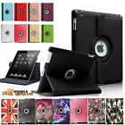 New Leather 360° Rotating Smart Stand Folio Case Cover For Apple iPad 9.7 (2017)