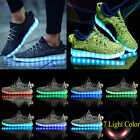 7 LED Unisex Luminous Shoes Light Lace Up Sneaker USB Charging Sportswear Shoes