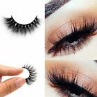 100% Real3DMink MakeupCrossFalse EyelashesEye Lashes Extension HandmadeClassic