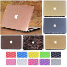 "2in1 Marble Wooden Glitter Leather Coated Case for MacBook Air Pro 13"" 15""+2016"
