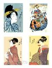 Lovely Japanese Geisha's Fabric Quilt Blocks FrEE ShiPPinG WoRld WiDE
