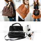 Women Knit Hobo Tote Cross Satchel Leather Handbag Shoulder Bag Mother's Gift