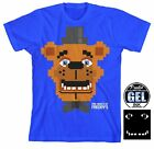 Cool Collectable Shirts! Five Nights at Freddys Pixel Freddy Boys T-Shirt w Glow