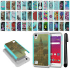 "For LG Tribute HD LS676 X Style 5"" Hybrid Bumper Shockproof Case Cover + Pen"