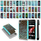 For LG X Power LS755 US610 K450 K220 Hybrid Bumper Shockproof Case Cover + Pen