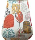 1 TABLE RUNNERS - TRAD col spice TREES LEAF orange red blue  -lined xmas runner
