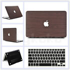 """2in1 Dark Brown Leather Coated Matte Case for MacBook Air 11"""" Pro 13"""" 15"""" Retina"""