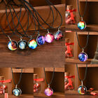 New Stars Short Glass Galaxy Pattern Necklaces Glass Pendant Necklace Jewelry