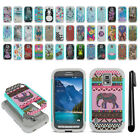 For Samsung Galaxy S5 Active G870A Hybrid Bumper Shock Proof Case Cover + Pen