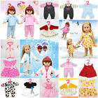 """Cute Handmade Clothes Party Dress Skirt pajamas for 18"""" American girl doll Gift"""
