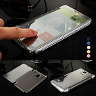 Flip transparent Case Smart view Mirror Plating Cover For Samsung Galaxy phone